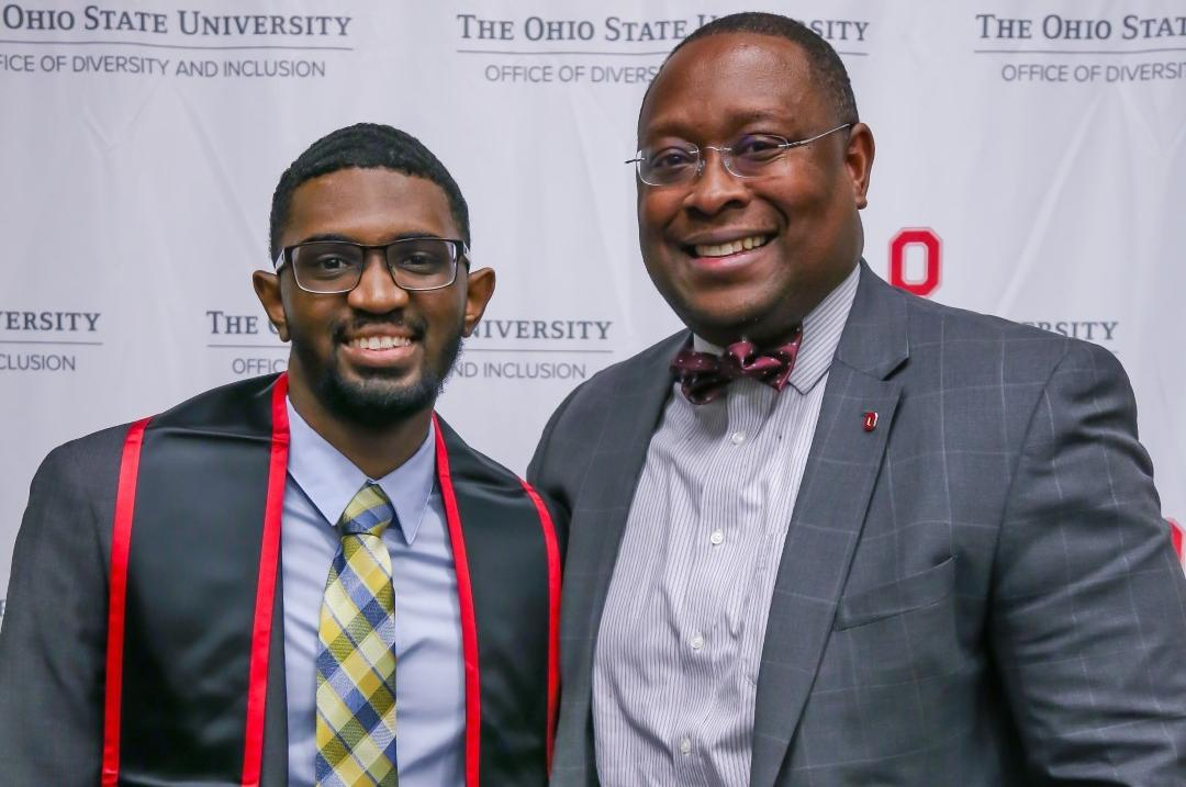 Dr. Moore and graduate