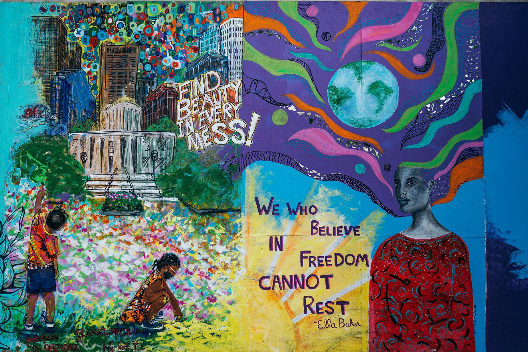 April Sunumi protest art