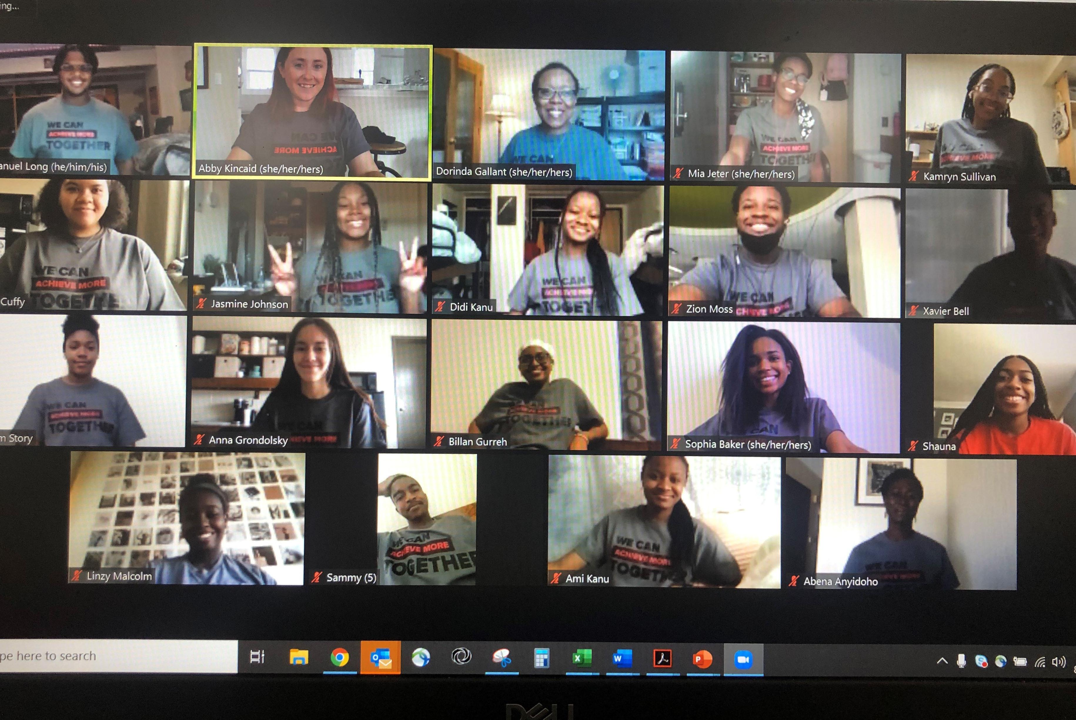 OSU LSAMP EAP participants on a Zoom call