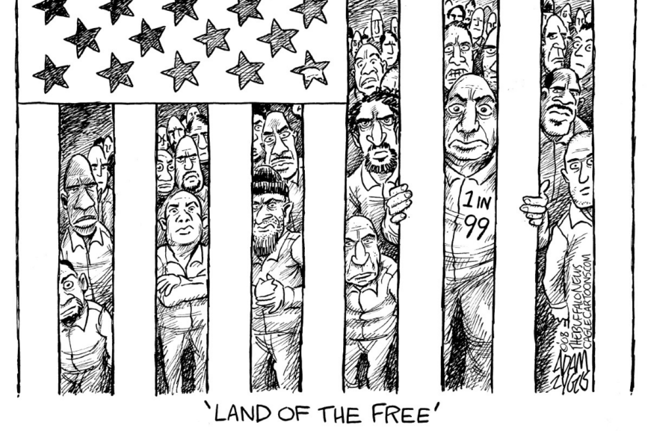 people behind prison bars