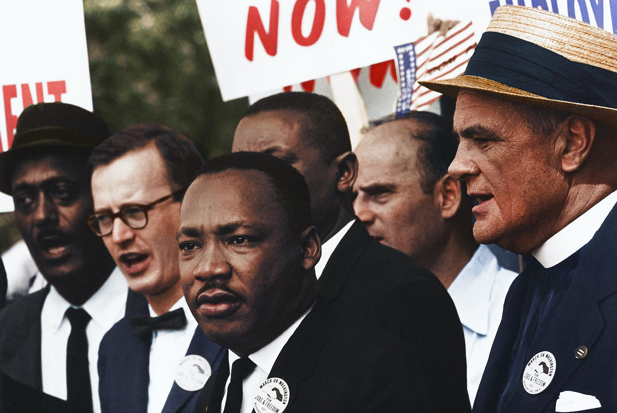 Martin Luther King at a Civil Right march