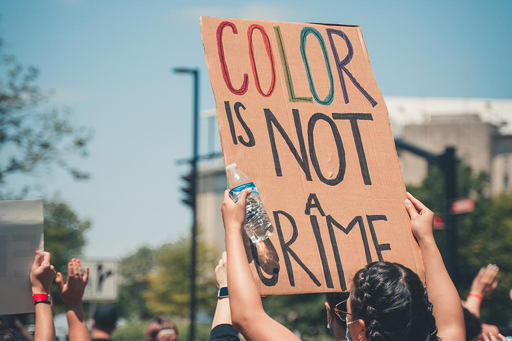 Color is not a crime sign