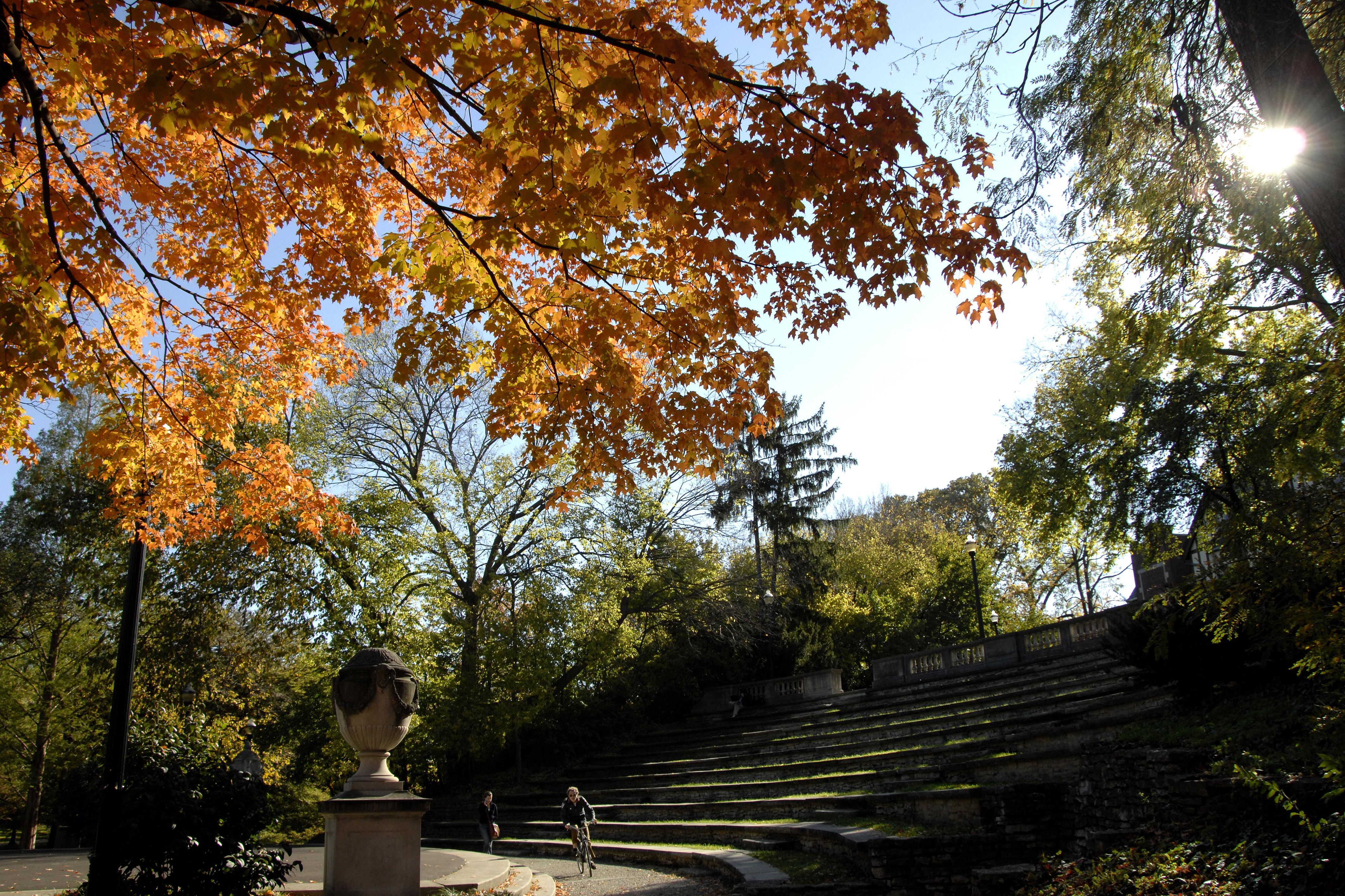Ohio State outdoor arena in the autumn