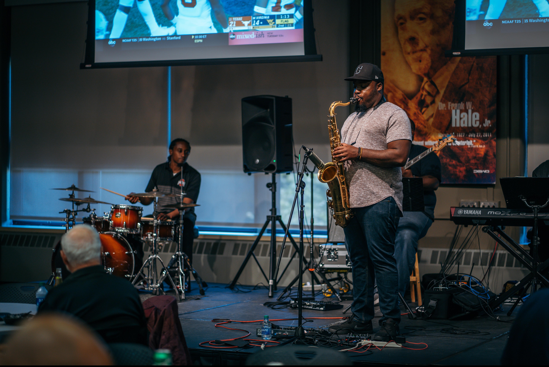 band playing smooth jazz