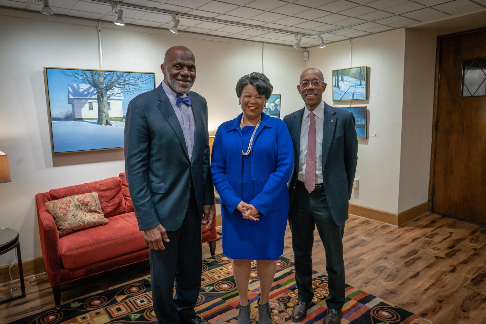 Justice Alan Page and President Drake