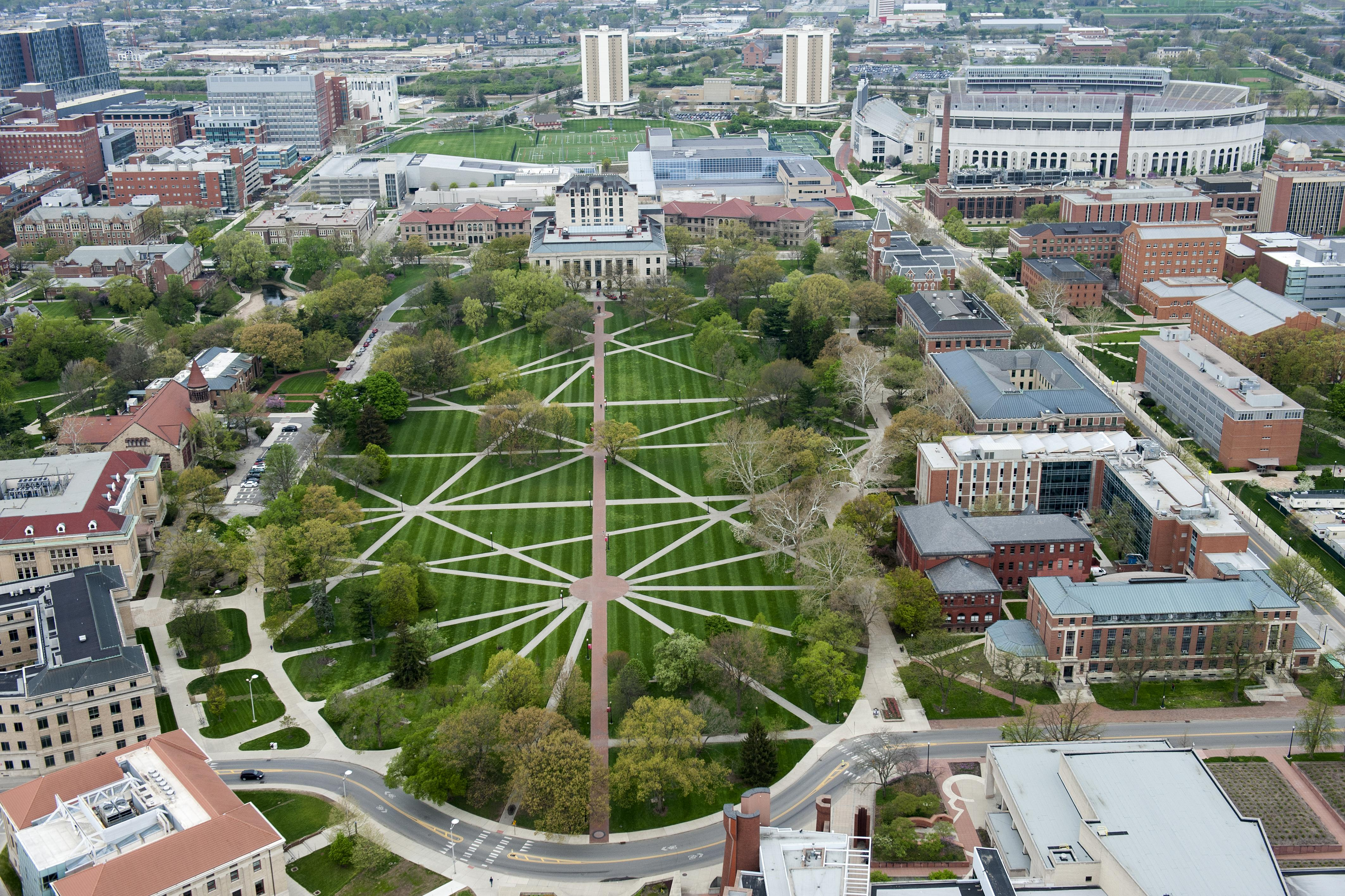 Arial view of Ohio state